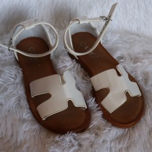 Other - 2/$15 Girls white sandals 11c